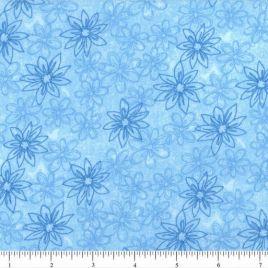 108″ Blue Daisies