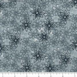 108″ Gray Daisies