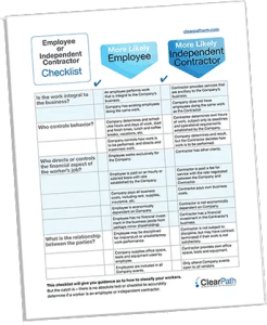 ClearPath Workforce Management employee or subcontractor checklist