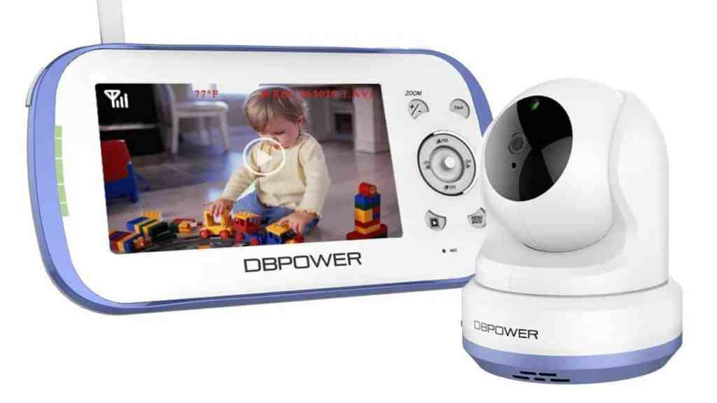 DBPower Video Baby Monitor - 3rd longest range baby monitor - 10BabyGear List Updated 2019