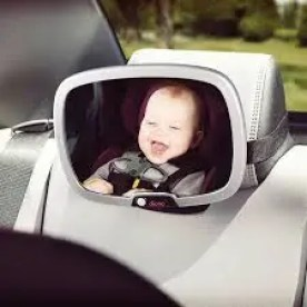 Image of a baby from a baby mirror