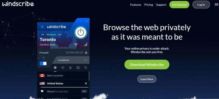Windscribe 乌克兰服务器 未加密