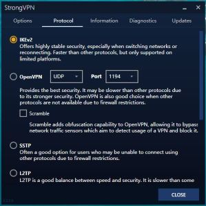 StrongVPN Windows 中国VPN翻墙 传输协议