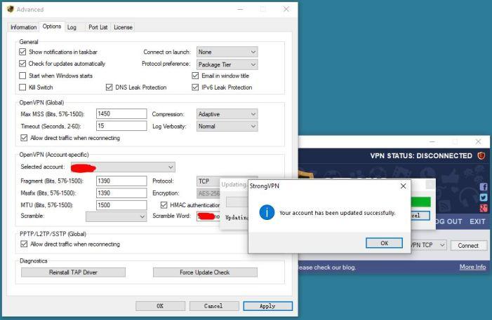 Strongvpn-advanced options Scramble