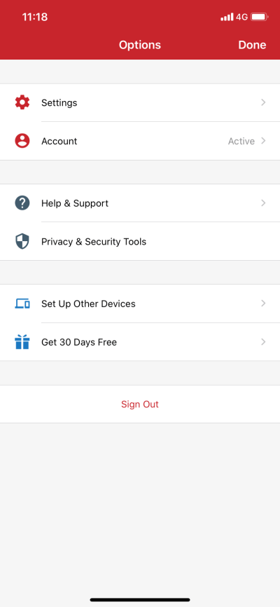 IOS ExpressVPN settings VPN Protocol IKEv2 Done