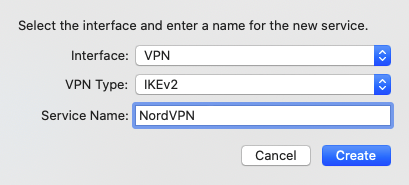 NordVPN Mac IKEv2 连接配置方法-4