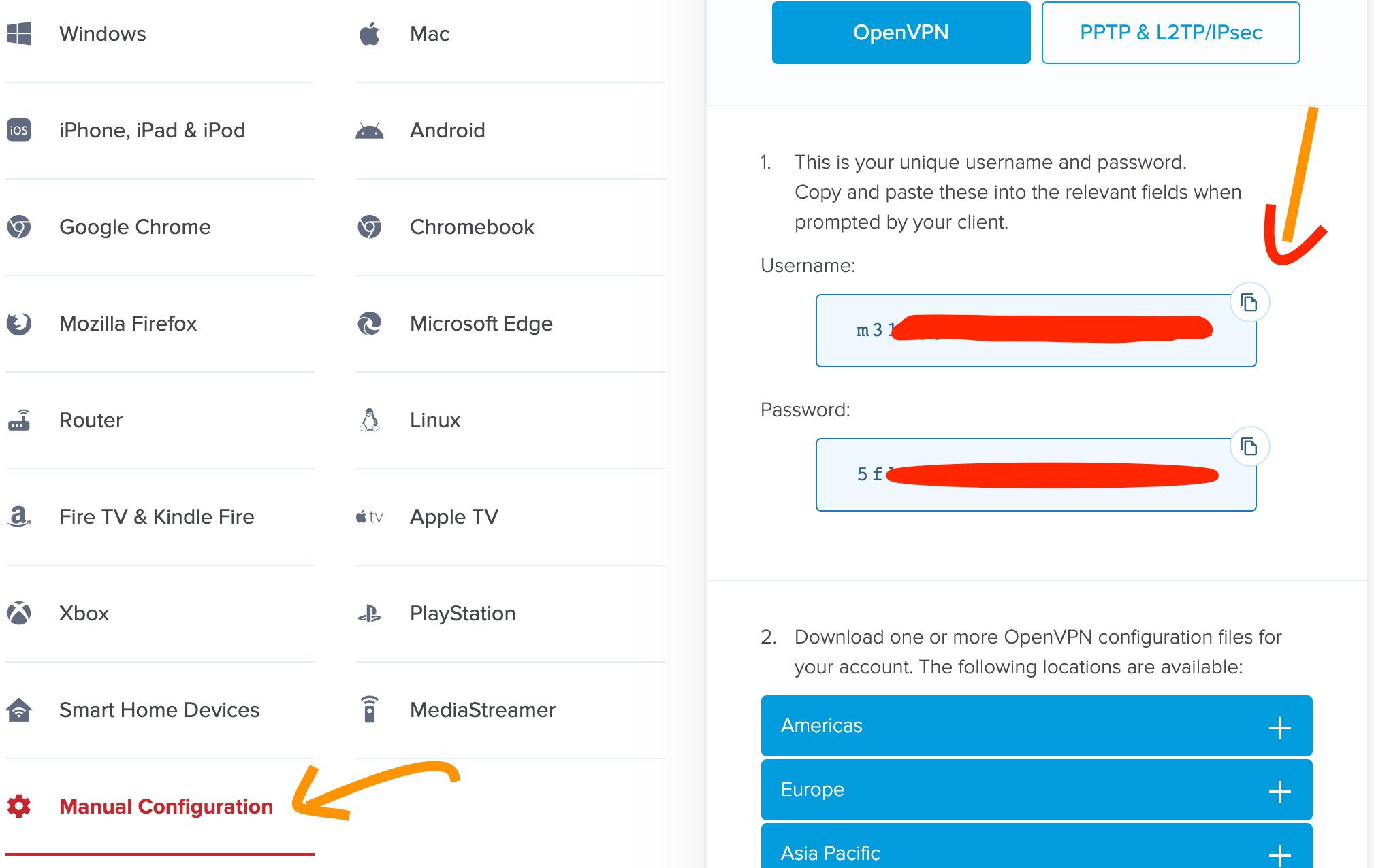 如何查找ExpressVPN 手动配置账号密码 截图