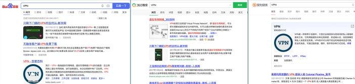 VPN-百度-360搜索-搜狗搜索结果-2021-06-10