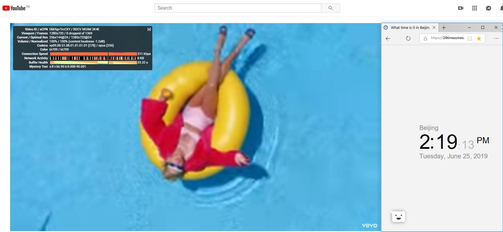 Windows Expressvpn singapore marina bay 节点测试-youtube-20190625