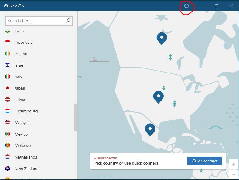Windows NordVPN 连接协议设置 步骤一