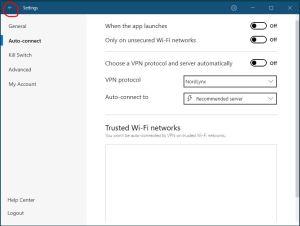 Windows NordVPN 连接协议设置 步骤五