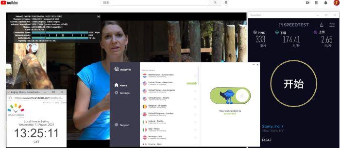 Windows10 AtlasVPN USA - New York 服务器 中国VPN 翻墙 科学上网 Barry测试 10BEASTS - 20210811