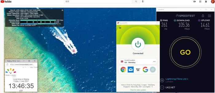 Windows10 ExpressVPN Automatic协议 UK - Wembley 服务器 中国VPN 翻墙 科学上网 Barry测试 10BEASTS - 20210702