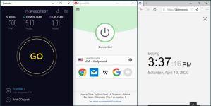 Windows10 ExpressVPN IKEv2 USA - Hollywood 中国VPN 翻墙 科学上网 SpeedTest测速-20200418