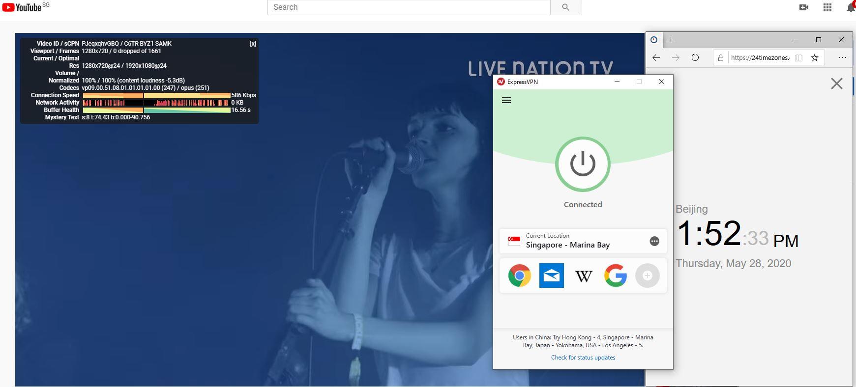 Windows10 ExpressVPN Singapore - Marina Bay 中国VPN 翻墙 科学上网 测速-20200528