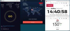 Windows10 IKEv2 StrongVPN UK-London 服务器 中国VPN 翻墙 科学上网 翻墙速度测试 - 20200924