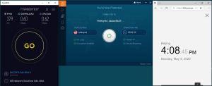 Windows10 IvacyVPN Malaysia 中国VPN 翻墙 科学上网 SpeedTest测速-20200504