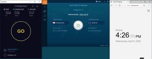 Windows10 IvacyVPN Netherlands 中国VPN翻墙 科学上网 SpeedTest测速-20200408