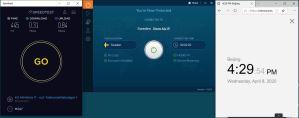 Windows10 IvacyVPN Sweden 中国VPN翻墙 科学上网 SpeedTest测速-20200408