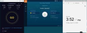 Windows10 IvacyVPN Sweden 中国VPN 翻墙 科学上网 SpeedTest测速-20200410