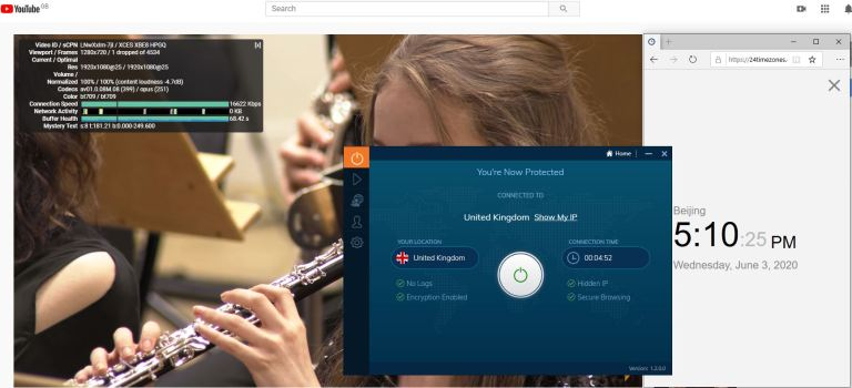 Windows10 IvacyVPN UK 中国VPN 翻墙 科学上网 测速-20200603