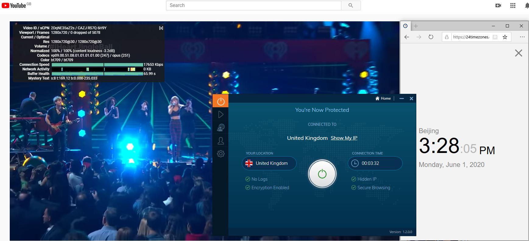 Windows10 IvacyVPN UK 中国VPN 翻墙 科学上网 测速-20200601