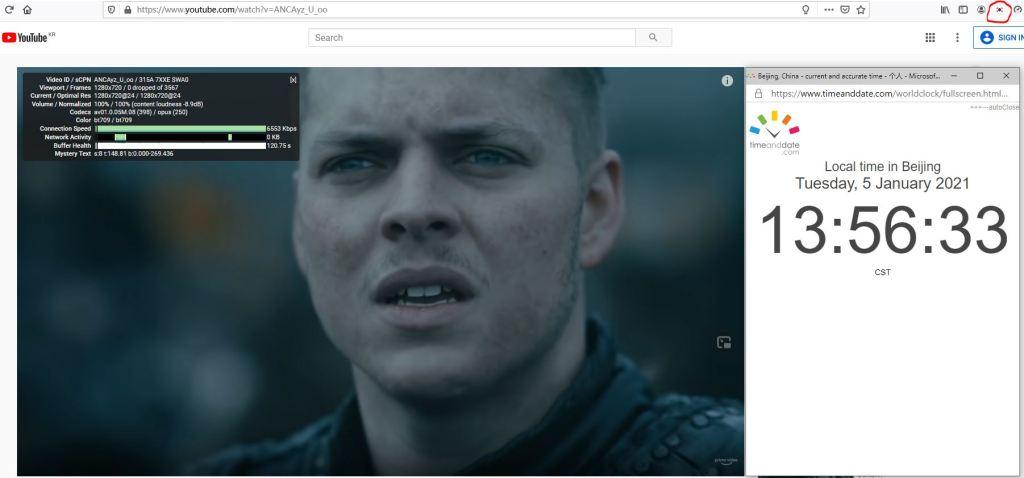 Windows10 PureVPN Firefox浏览器扩展插件 South Korea 服务器 中国VPN 翻墙 科学上网 10Beasts Barry测试 - 20210105