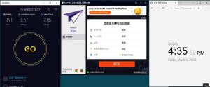 Windows10 PureVPN USA 中国VPN翻墙 科学上网 SpeedTest测速-20200403