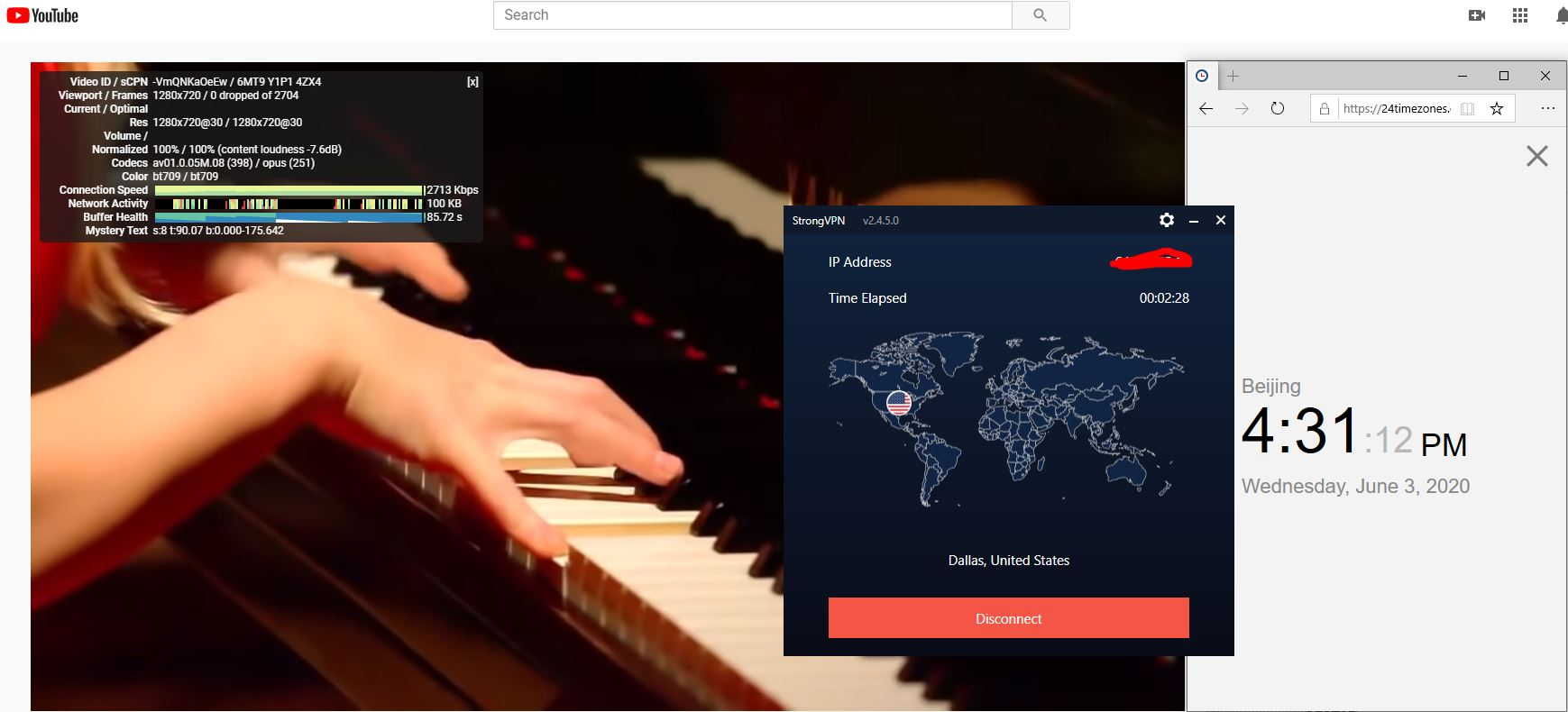Windows10 StrongVPN IKEv2协议 USA - Dallas 中国VPN 翻墙 科学上网 测速-20200603