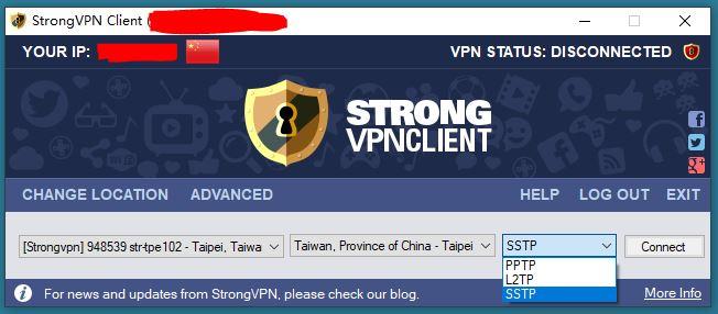 Windows10 StrongVPN Taiwan 服务器 中国VPN 翻墙 科学上网 测试 - 20201224