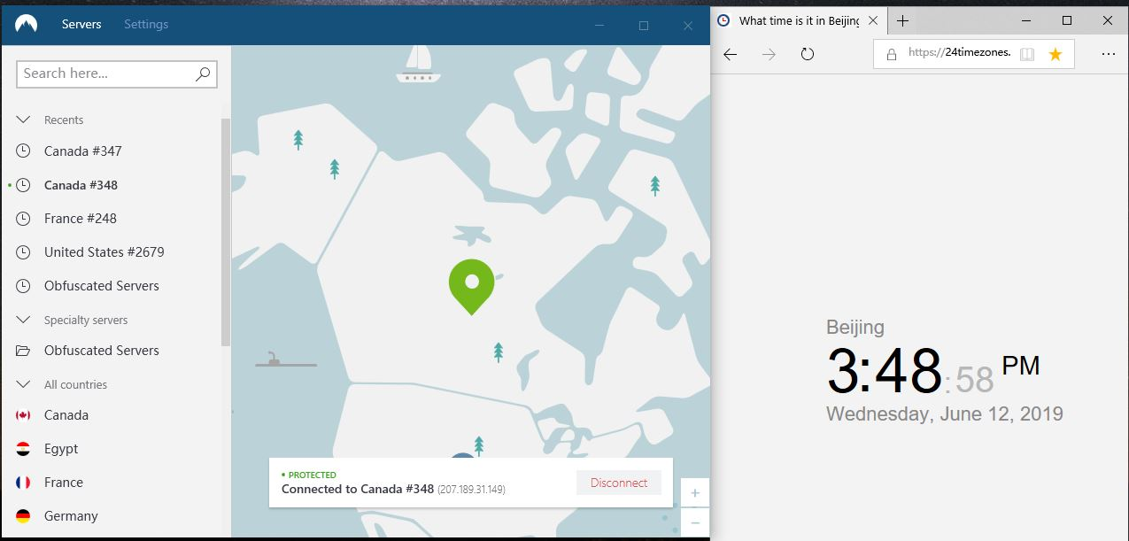 nordVPN-windows10-canada-348节点-20190612