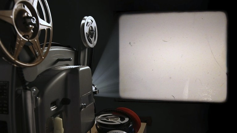 Projector Screen in Into Wall
