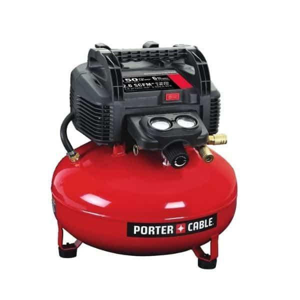 PORTER-CABLE Air Compressor, 6-Gallon, Pancake, Oil-Free