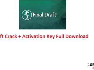 Final Draft Crack + Activation Key Full Download