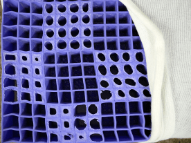 The Purple Mattress foam material