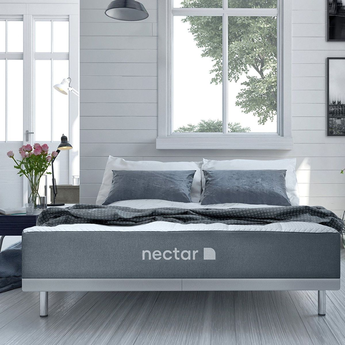 Nectar Mattress in bedroom gray