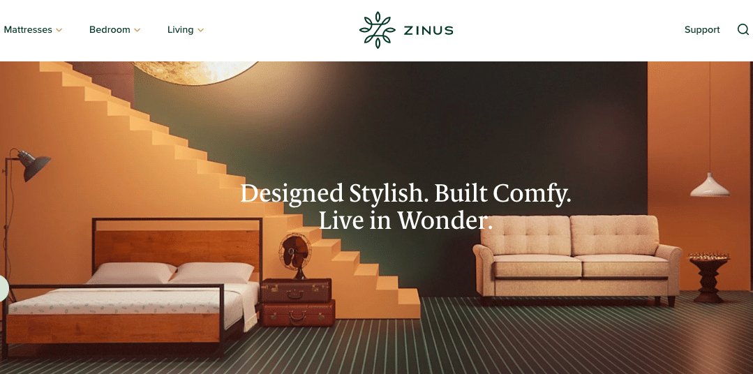 Zinus Home Page