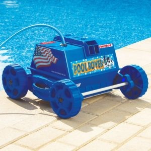 The Aquabot APRVJR Pool Rover Junior Robotic Above-Ground Pool Cleaner, Color could Vary