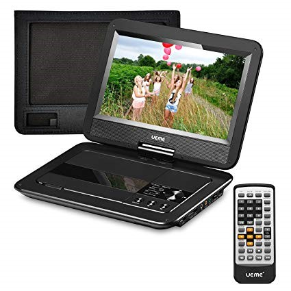 UEME Portable DVD CD Player considering 10.1 Inch LCD Screen Best Reviewed Portable DVD Player For The Car