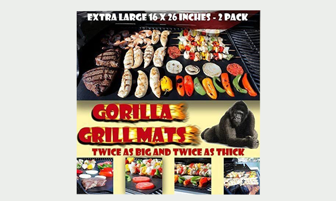 GORILLA GRILL MATS Huge Double Sized