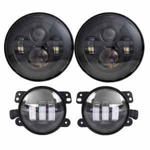 LX-LIGHT DOT Approved 7 Black Daymaker LED Headlights + 4 Cree LED Fog Lights review