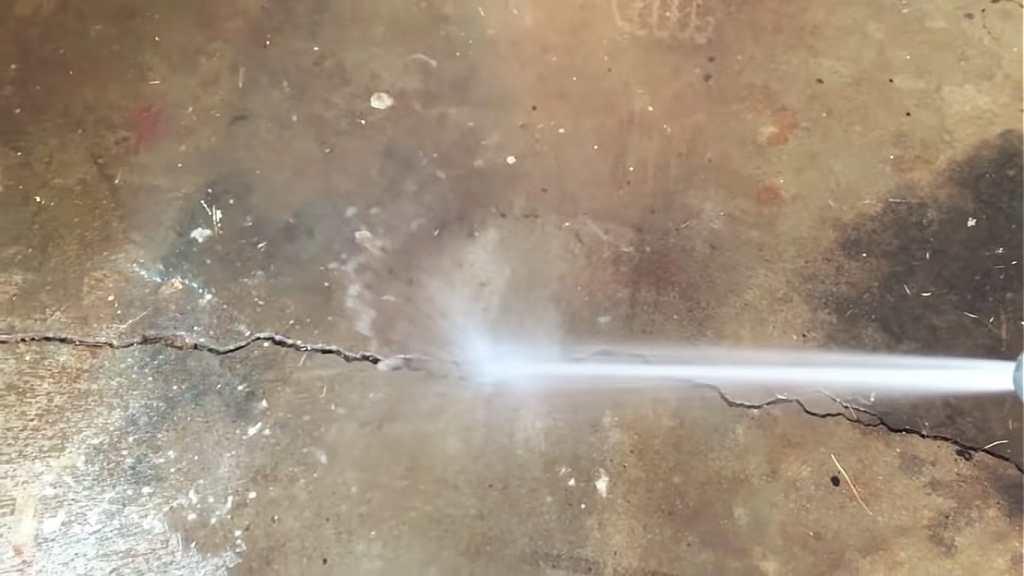 Wash garage floor before paint