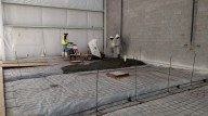 Wash bay slab poured