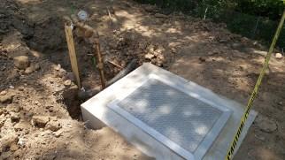 Water meter vault and backflow preventer installed