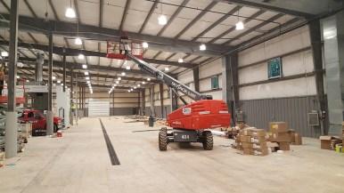 Sprinkler pipe installation underway