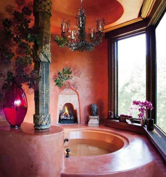 Εξωτικό μπάνιο: Τι υλικά να επιλέξετε
