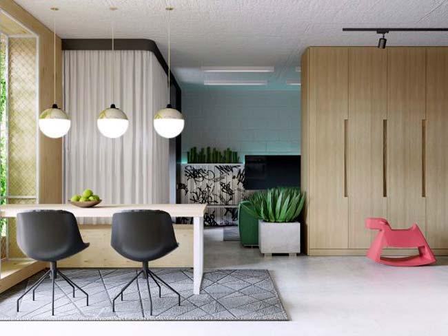 Ένα studio με πολύ χρώμα