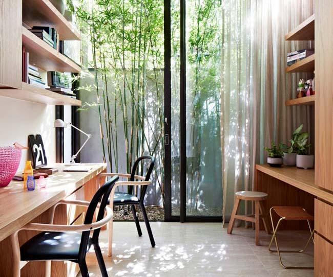 Γραφείο στο σπίτι σχεδιασμένο για δύο