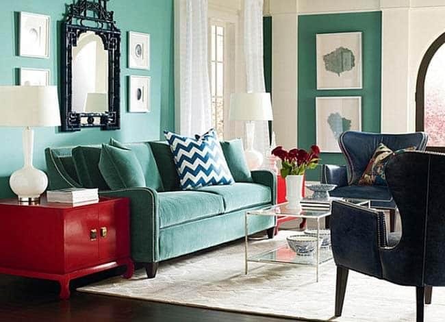 Βελούδινοι καναπέδες. Υπεροχή στη διακόσμηση