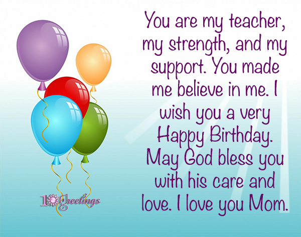 birthday wishes for mom greetings
